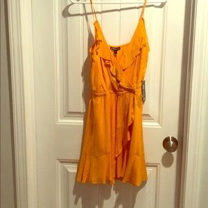 NWT Express ruffle fit and flare dress